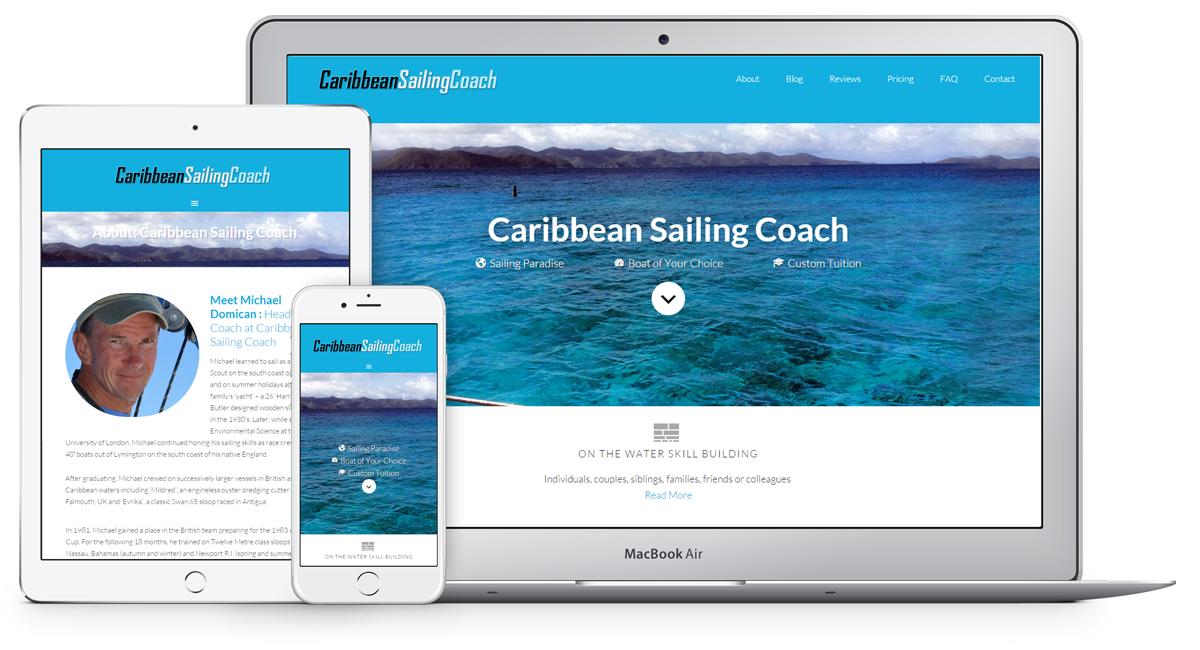 Caribbean Sailing Coach website