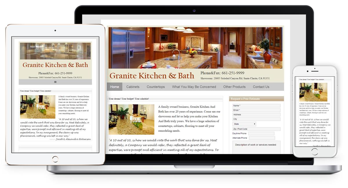 Granite-Kitchen Bath remodel website